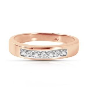 14K. SOLID GOLD RINGS WITH NATURAL DIAMONDS